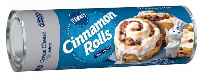 Cinnamon Roll Dough, Pillsbury® Cream Cheese Cinnamon Rolls (12.4 oz Tube)