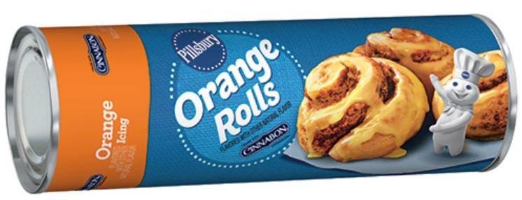 Cinnamon Roll Dough, Pillsbury® Orange Sweet Rolls with Orange Icing (13.9 oz Tube)