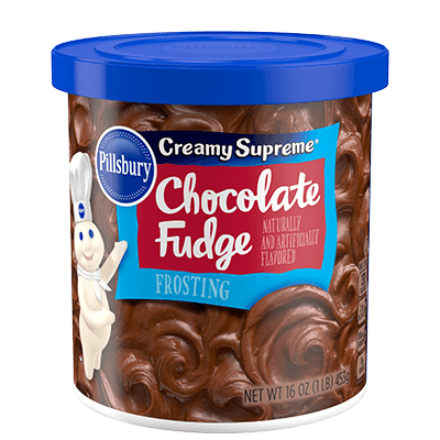 Cake Frosting Mix, Pillsbury® Creamy Supreme™ Chocolate Fudge Frosting (16 oz Tub)
