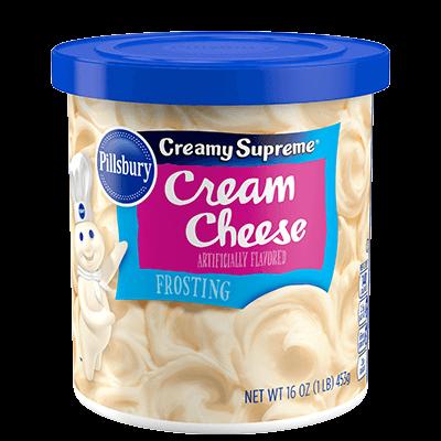Cake Frosting Mix, Pillsbury® Creamy Supreme™ Cream Cheese Frosting (16 oz Tub)