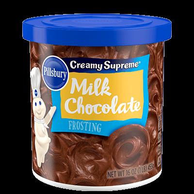 Cake Frosting Mix, Pillsbury® Creamy Supreme™ Milk Chocolate Frosting (16 oz Tub)