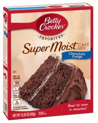 Cake Mix, Betty Crocker® Super Moist™ Chocolate Fudge Cake Mix (15.25 oz Box)