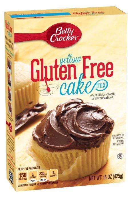Cake Mix, Betty Crocker® Gluten Free Yellow Cake Mix (15 oz Box)