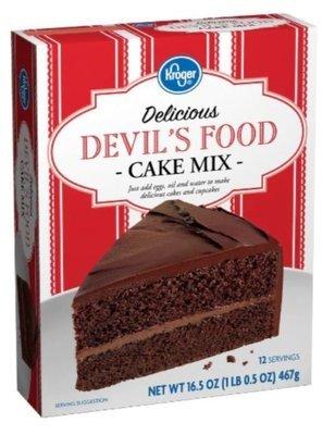 Cake Mix, Kroger® Delicious™ Devil's Food Cake Mix (16.5 oz Box)