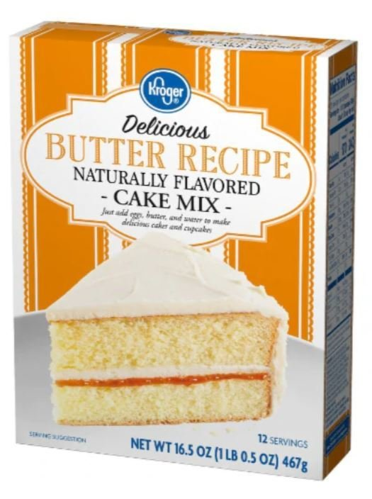 Cake Mix, Kroger® Delicious™ Butter Recipe Cake Mix (16.5 oz Box)