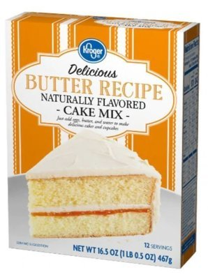 Cake Mix, Kroger® Delicious™ Butter Recipe Cake Mix (16.5 oz Box)