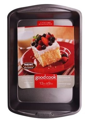 Cake Pan, Good Cook® Nonstick Oblong Cake Pan (13
