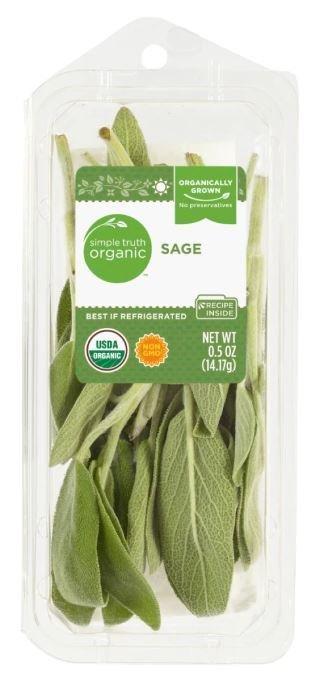 Fresh Seasonings, Simple Truth Organic™ Sage (0.5 oz Tray)