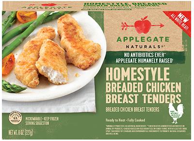 Chicken Tenders, Applegate Farms® Homestyle Chicken Breast Tenders (8 oz Box)