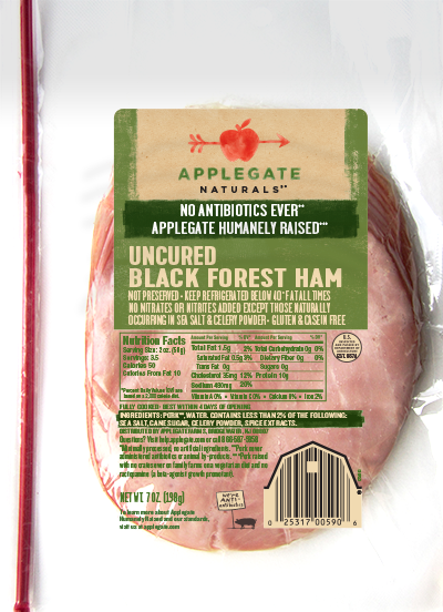 Deli Meat, Applegate Farms® Uncured Black Forest Ham (7 oz Resealable Bag)