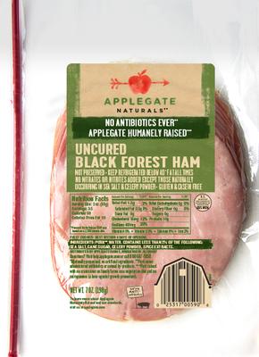 Deli Meat, Applegate Farms® Uncured Black Forest Ham (7 oz Resealable Bag)