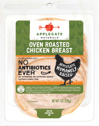 Deli Meat, Applegate Farms® Roasted Chicken Breast (6 oz Resealable Bag)