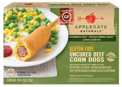 Corn Dogs, Applegate Farms® Gluten Free Uncured Beef Corn Dogs (10 oz Box)