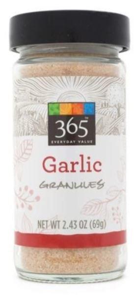 Seasonings, 365® Garlic Granules (2.43 oz Jar)