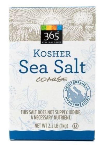 Seasonings, 365® Sea Salt (2.2 Lb Box)