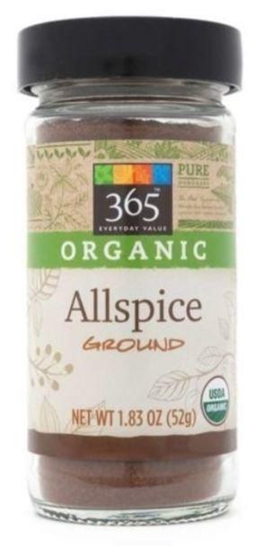Organic Seasonings, 365® Organic Allspice (1.83 oz Jar)