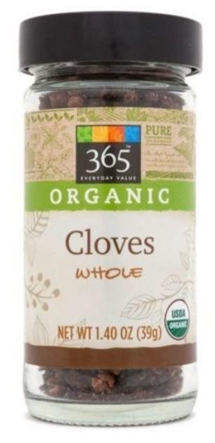 Organic Seasonings, 365® Organic Cloves (2.36 oz Jar)