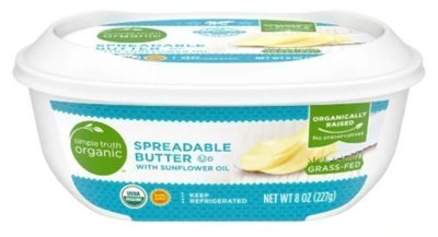 Organic Butter, Simple Truth Organic™ Spreadable Butter (8 oz Tub)