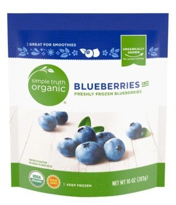 Frozen Fruit, Simple Truth Organic™ Blueberries (10 oz Bag)