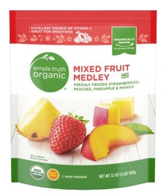 Frozen Fruit, Simple Truth Organic™ Mixed Fruit Medley (32 oz Bag)