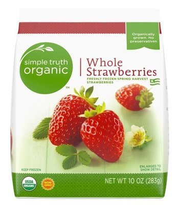 Frozen Fruit, Simple Truth Organic™ Whole Strawberries (10 oz Bag)