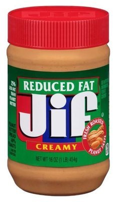 Peanut Butter, Jif® Reduced Fat Creamy Peanut Butter (16 oz Jar)