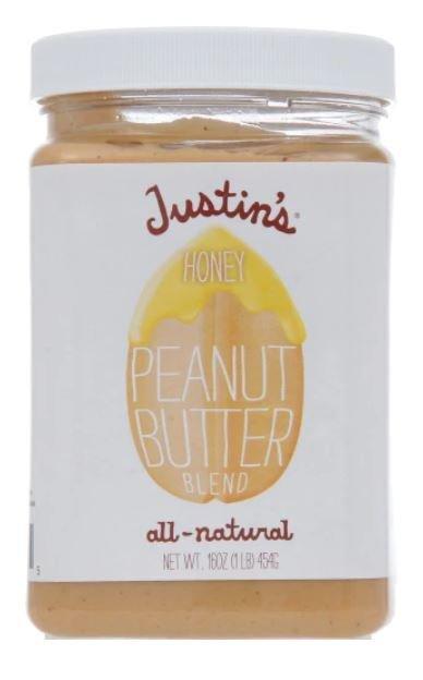 Peanut Butter, Justin's® Honey Peanut Butter (16 oz Jar)