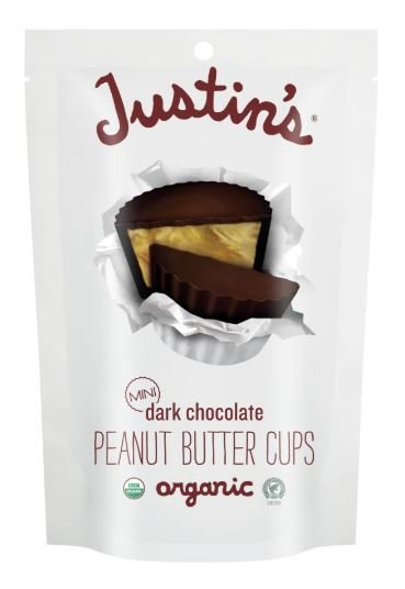 Organic Peanut Butter Cups, Justin's® Organic Mini Dark Chocolate Peanut Butter Cups (4.7 oz Bag)