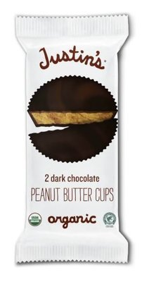 Organic Peanut Butter Cups, Justin's® Organic Mini Dark Chocolate Peanut Butter Cups (2 Cups, 1.4 oz Bag)
