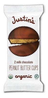 Organic Peanut Butter Cups, Justin's® Organic Mini Milk Chocolate Peanut Butter Cups (2 Cups, 1.4 oz Bag)