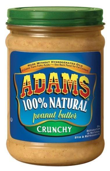 Peanut Butter, Adams® 100% Natural Crunchy Peanut Butter (16 oz Jar)