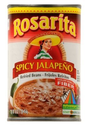 Canned Refried Beans, Rosarita® Spicy Refried Pinto Beans (16 oz Can)