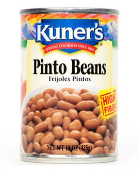 Canned Pinto Beans, Kuner's® Pinto Beans (15 oz Can)