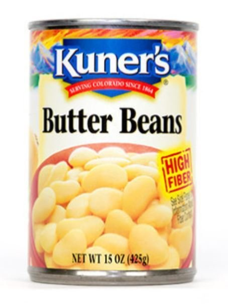 """Canned Beans, Kuner's® """"Butter Beans"""" Lima Beans (15 oz Can)"""