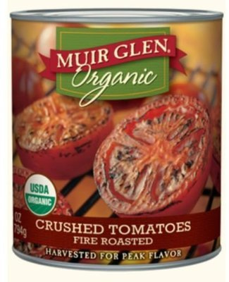 Canned Tomato, Muir Glen® Organic Crushed Fire Roasted Tomatoes (28 oz Can)