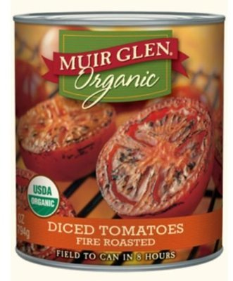 Canned Tomato, Muir Glen® Organic Fire Roasted Diced Tomatoes (28 oz Can)