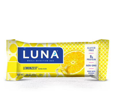 Energy Bars, Luna® Lemon Zest Bar (1.69  oz Bag)