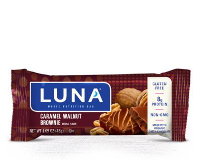 Energy Bars, Luna® Caramel Walnut Brownie Bar (1.69  oz Bag)