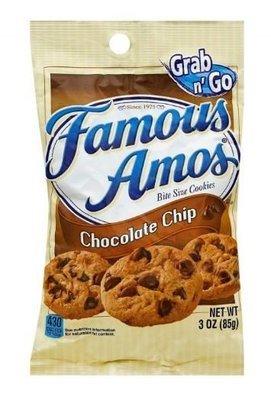 Cookies, Famous Amos® Chocolate Chip Cookies (Single 3 oz Bag)