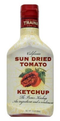 Ketchup, Traina® Sun Dried Tomato Ketchup (16 oz Bottle)