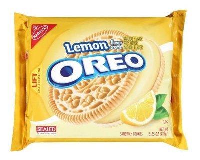 Sandwich Cookies, Nabisco® Oreo Lemon® Sandwich Cookies (15.25 oz Bag)