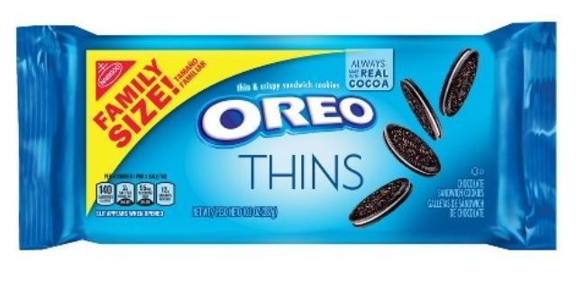 Sandwich Cookies, Nabisco® Oreo Thins® Sandwich Cookies (Family Size, 13.1 oz Bag)