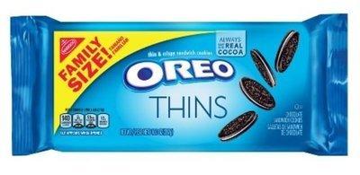 Sandwich Cookies, Nabisco® Oreo Thins® Sandwich Cookies (Family Size, 13.1 oz Bag)