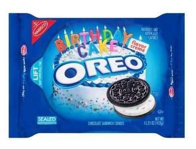 Sandwich Cookies, Nabisco® Oreo Birthday Cake® Sandwich Cookies (15.25 oz Bag)