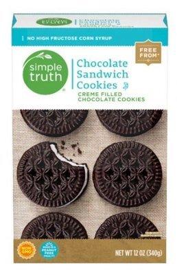 Sandwich Cookies, Simple Truth™ Chocolate Sandwich Cookies (12 oz Box)