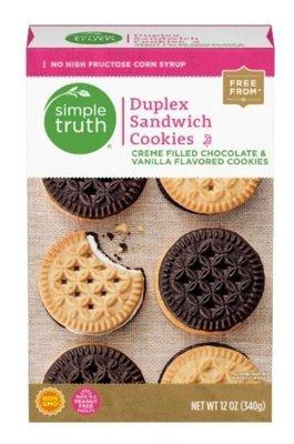 Sandwich Cookies, Simple Truth™ Duplex Sandwich Cookies (12 oz Box)