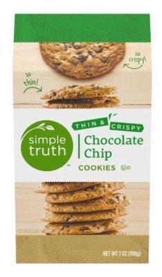 Sandwich Cookies, Simple Truth™ Thin & Crispy Chocolate Chip Cookies (7 oz Box)