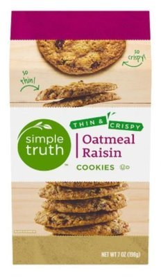 Sandwich Cookies, Simple Truth™ Thin & Crispy Oatmeal Raisin Cookies (7 oz Box)
