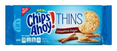 Cookies, Nabisco® Chips Ahoy® Thins Cinnamon Sugar Cookies (7 oz Bag)
