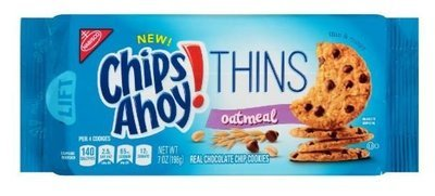 Cookies, Nabisco® Chips Ahoy® Thins Oatmeal Cookies (7 oz Bag)